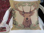 Belgium Tapestry Cushion, Deer Head $99