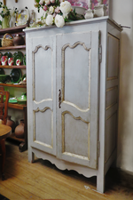 Early French Provincial Kitchen Dresser or Armoire Cabinet $2250