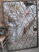 Gate with Heart shaped Iron Detail