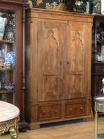 Antique European Rustic Pine Wardrobe, Linen Press or Kitchen Cabinet $2500