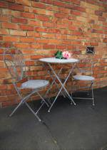 French Industrial Chic Style Cafe Set 3 piece $365