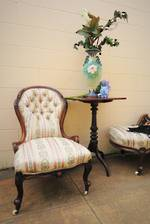 Victorian Walnut Grandmother Chair $995