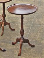 French Antique Mahogany Wine Table - Tall with Gallery Edge