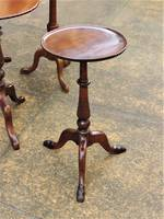 Petite French Walnut Occasional Table - Pedestal Base & Hairy Hoof Feet $495.00