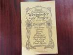 Westminster Glee Singers on World Tour Programme Pamphlet 1930