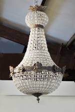 Antique Style Hand-Beaded Basket Chandelier $2750