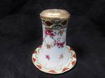 Antique Hat pin holder - Hand Painted enamel