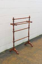 Antique Colonial Kauri Towel Drying Rack $325