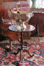 Antique Mahogany Wine Table $650