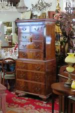 18th Century Cuban Mahogany Chest on Chest $4250