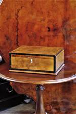 Antique English Walnut Inlaid Document Box $450