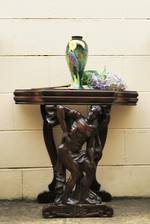 Fabulous Antique Carved Figural Adonis Hall Table $950