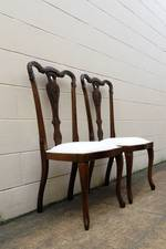 French Antique Carved Beech Slipper Chairs $350 each