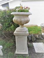 Marble dust Plinths Only $1500 pair No Urns as now sold