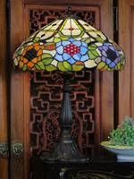 Spring Flowers Lead-light Mosaic Table Lamp SOLD