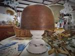Vintage Shabby Chic Wooden Hat block size 22