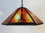 Arts & Crafts Ceiling Light Shade - Large Reproduction Copper & Mica $345