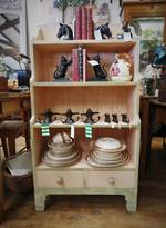 English Pine Shelf, Shabby Chic Painted Reproduction $750