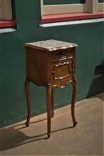 French Bedside with Marble Top