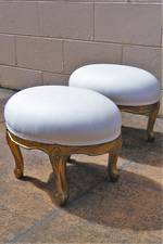 French Antique Gilded Foot Stools $890 pair