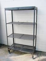 Industrial metal Shoe rack ex UK
