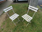 Two Vintage French Chairs, Collapsible Conservatory $290.00 pair