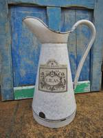 Antique French Enamel Jug