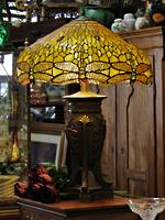 Huge Tiffany Inspired Dragonfly Table Lamp $850