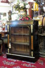 Rare French Boulle Inlaid Tortoiseshell Cabinet $2750