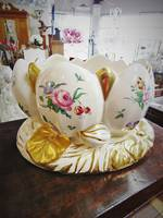 Clarrice Cliff Lotus Bowl Rare Duvivier Pattern With Gilt Detailing