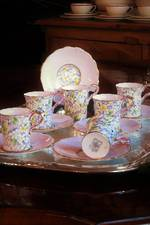 Vintage Floral Chintz Demitasse Coffee Cup Set by Paragon 'June Glory' SOLD