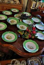 Early European Sevres Style Hand Painted Scenic Porcelain Desert Set x 15pc $1250.00