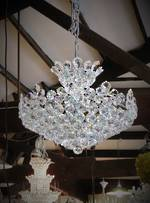 Cut Crystal Ball Chandelier $3950.00 In Stock!!