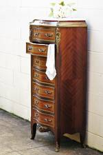 Rare French Antique Marble Topped Lingerie Chest of Drawers