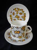 Retro Crown Lynn Coffee Cup x  6 Trio's
