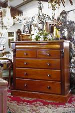Large English Antique Cuban Mahogany Chest of Drawers $2950.00