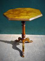 Antique Colonial Mottled Kauri Wine or Occassional Table $650.00
