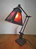 Arts & Crafts Angle Poise Table Mica Lamp $149.00