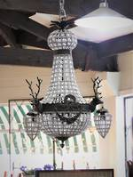 Baby Stag Head Basket Chandelier $2950.00