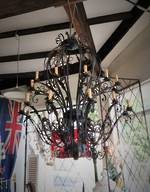 Huge Wrought Iron Chandelier Candelabra $5500.00