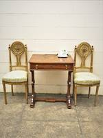 Empire Style French Antique Carved & Gilded Salon Chairs Pr $1100