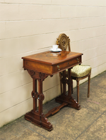 Antique Inlaid Burr Walnut Hall Table or Desk $1850