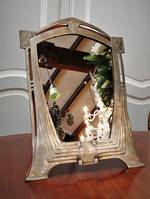 Original WMF Art Nouveau /Art Deco Table Mirror, Nickle plated Cast Metal $595