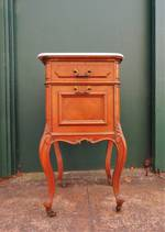 French Antique Marble topped Bedside Table $995.00