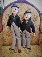 Vintage Laurel & Hardy Porcelain Dolls $250 pair