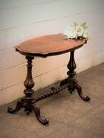 Burr Walnut Oval Table