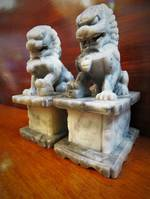Carved Stone Fu Dogs SOLD