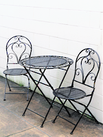 French Style Cafe Set  Black with Gold Highlights $395