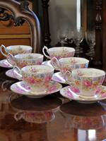 Royal Albert Demi-Tasse Porcelain Duo Sets x 6  'Serena'
