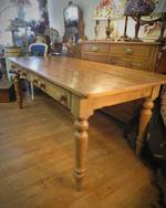 Antique English Baltic Pine Farmhouse Dining Table $2750.00